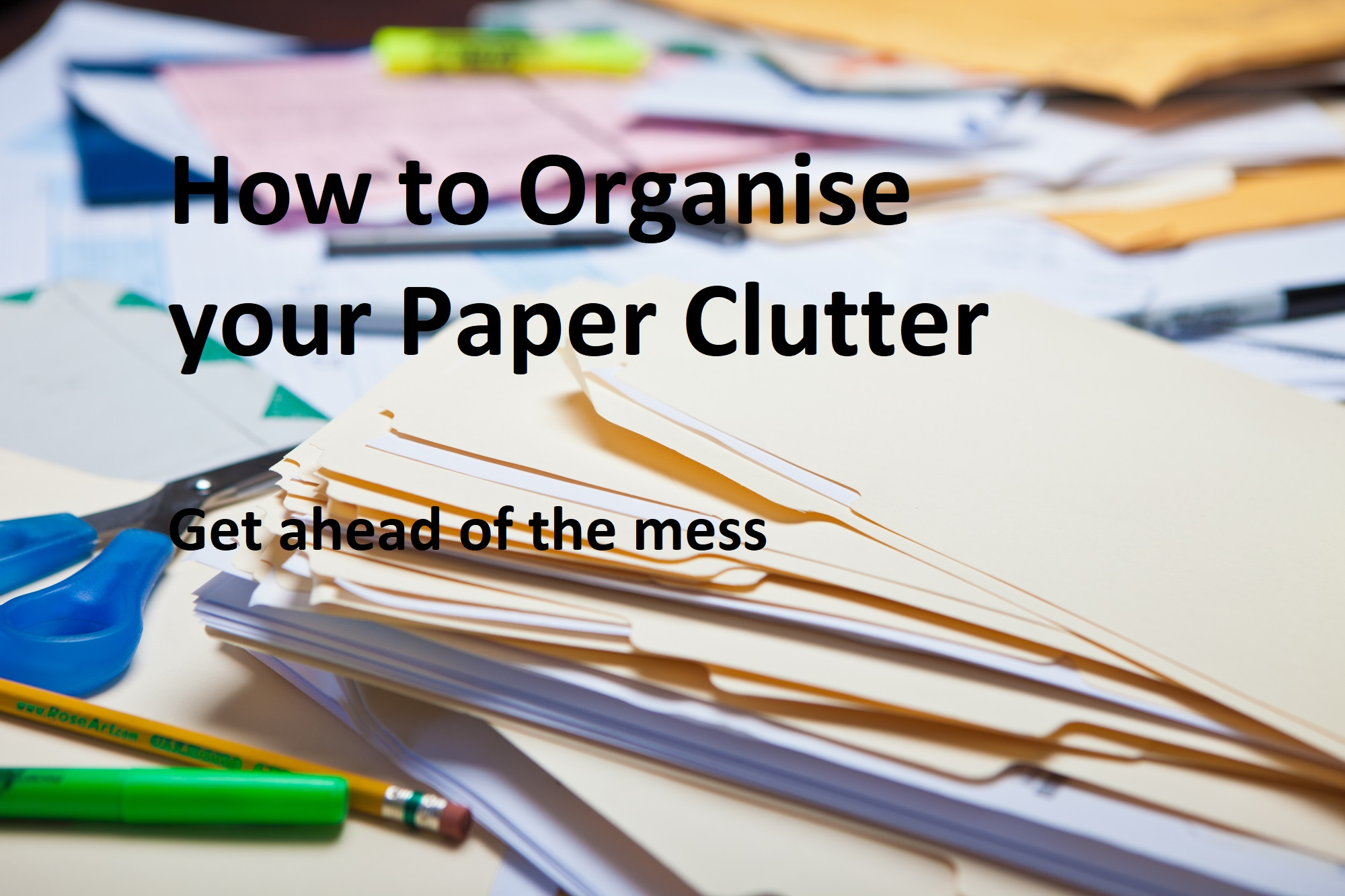 How to organise your papers and Documents at home