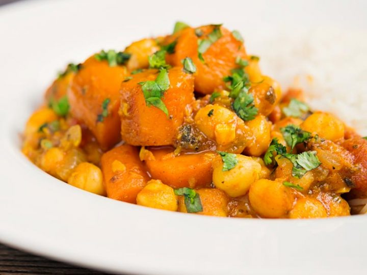 Chickpea and Sweet potatoes Curry